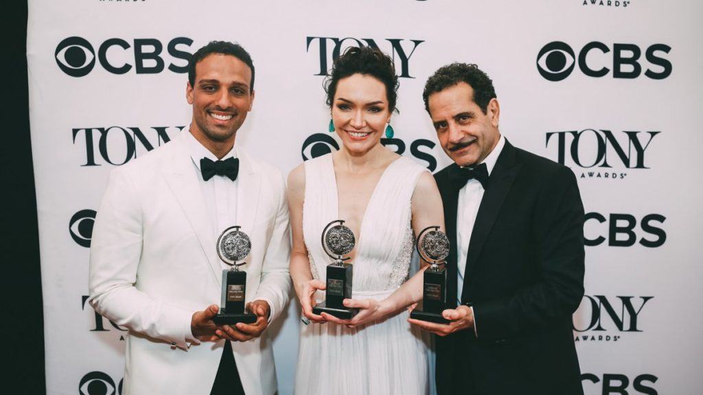 Tony Awards Winner Circle - Ari'el Stachel - Katrina Lenk - Tony Shalhoub - 6/18 - EMK