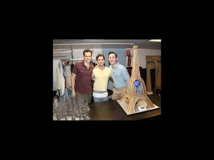 An American in Paris – 100 Performances – OP – 7/15 – Robert Fairchild - Brandon Uranowitz - Max von Essen