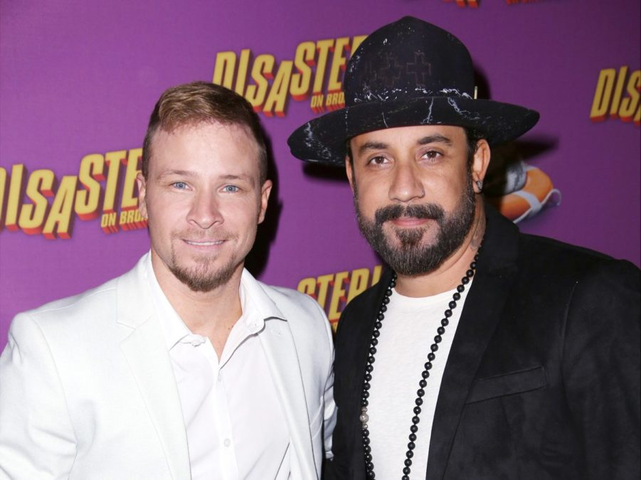 Brian Littrell - A.J. McLean- Backstreet Boys - Disaster - Getty - Walter McBride - 3/16