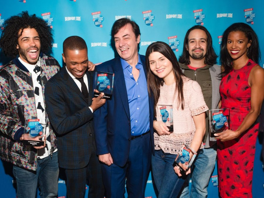Audience Choice Awards - Daveed Diggs - Leslie Odom Jr. - John Gore - Phillipa Soo - Lin MANUEL-MIRANDA - RenEe Elise Goldsberry - 5/16 - Emilio Madrid-Kuser